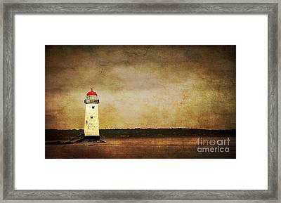 Abandoned Lighthouse Framed Print by Meirion Matthias