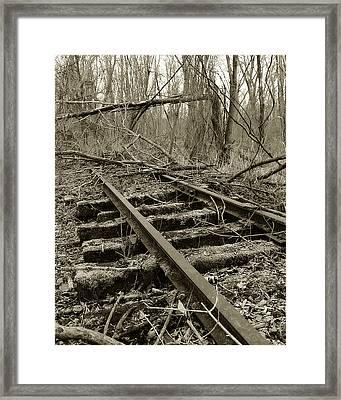 Abandoned Railroad 2 Framed Print by Scott Hovind