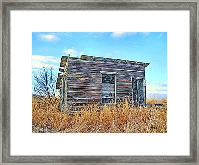 Abandoned Shack Framed Print by Julie Grace