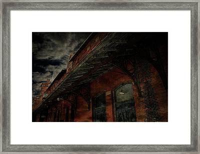 Abandoned Train Station Framed Print by Scott Hovind