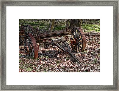 Abandoned Wagon Framed Print by Tom Mc Nemar