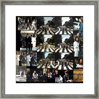 Abbey Road Photo Shoot Framed Print by Paul Van Scott