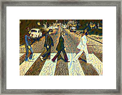 Abbey Road Watercolor Framed Print by Bill Cannon