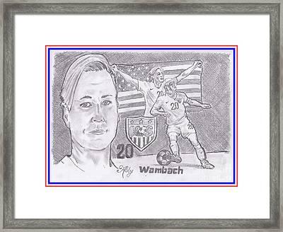 Abby Wambach Framed Print by Chris DelVecchio