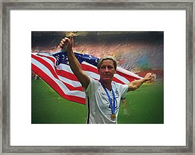 Abby Wambach Us Soccer Framed Print by Semih Yurdabak