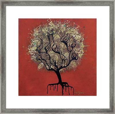 Abc Tree Framed Print by Kelly Jade King