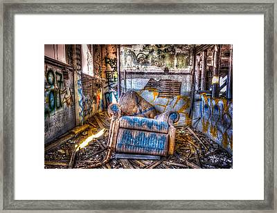 Abducted Recliner Framed Print by Spencer McDonald