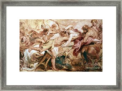 Abduction Of Hippodamia Framed Print by Granger