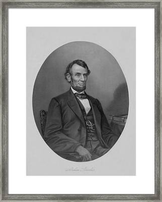 Abraham Lincoln Framed Print by War Is Hell Store