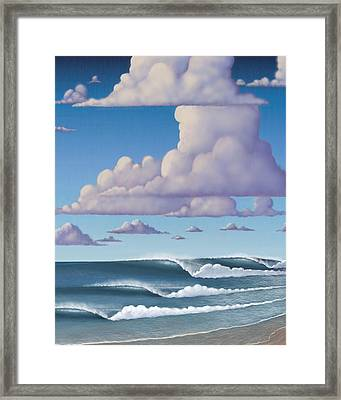 Abeautiful Day At The Beach Framed Print by Tim Foley