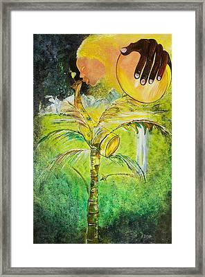 Abeng Framed Print by Ikahl Beckford