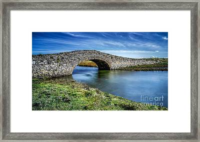 Aberffraw Bridge Framed Print by Adrian Evans