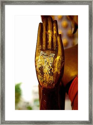 Abhaya Mudra IIi In Colour Framed Print by Dean Harte