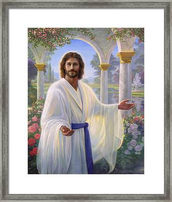 Abide With Me Framed Print by Greg Olsen