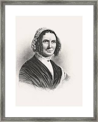 Abigail Powers Fillmore 1798 To 1853 Framed Print by Vintage Design Pics