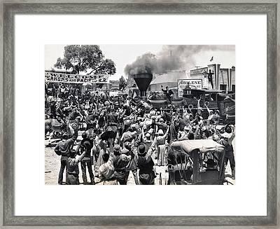 Abilene Movie Scene Framed Print by Underwood Archives