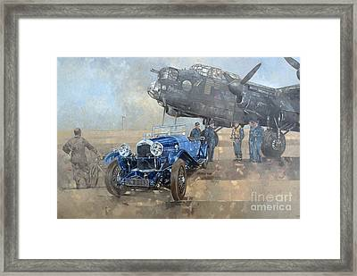 Able Mable And The Blue Lagonda  Framed Print by Peter Miller