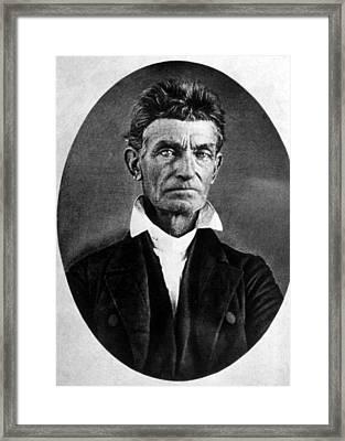 Abolitionist John Brown Framed Print by Everett