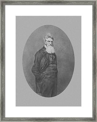 Abolitionist John Brown Framed Print by War Is Hell Store