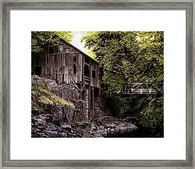 Above Cedar Creek Framed Print by Craig Shillam
