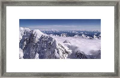 Above Denali Framed Print by Chad Dutson