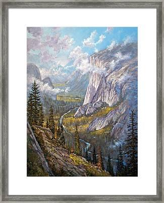 Above El Capitan Framed Print by Donald Neff