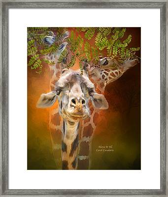 Above It All Framed Print by Carol Cavalaris