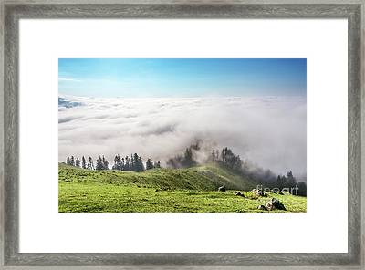 Above The Clouds Framed Print by Svetlana Sewell