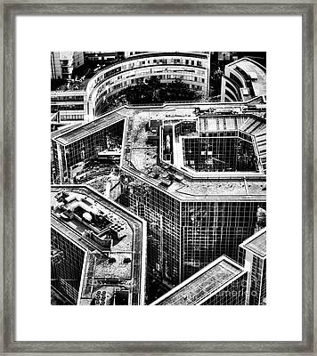 Above The Corporate World Framed Print by Olivier Le Queinec