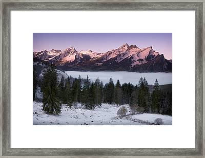 Above The Fog Framed Print by Dominique Dubied