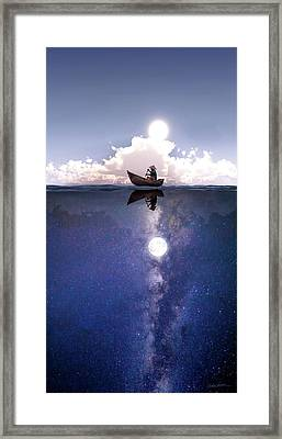 Above The Night Framed Print by Cynthia Decker