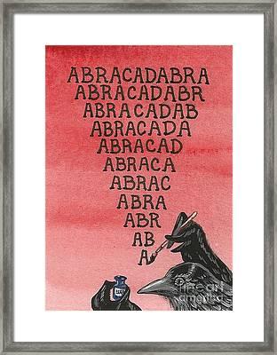 Abracadabra Framed Print by Margaryta Yermolayeva