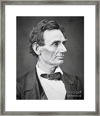 Abraham Lincoln Framed Print by Alexander Hesler