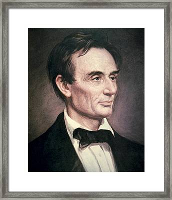 Abraham Lincoln Framed Print by George Peter Alexander Healy