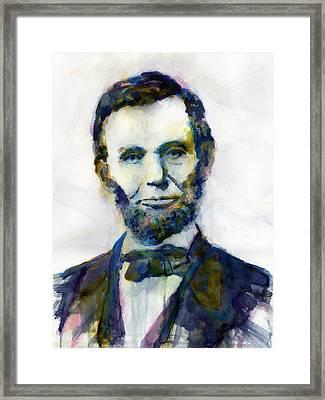 Abraham Lincoln Portrait Study 2 Framed Print by Hailey E Herrera