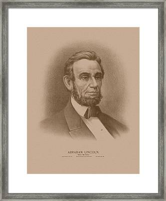 Abraham Lincoln - Savior Of His Country Framed Print by War Is Hell Store