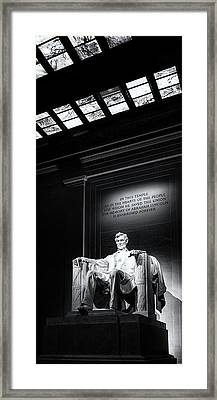Abraham Lincoln Seated Framed Print by Andrew Soundarajan