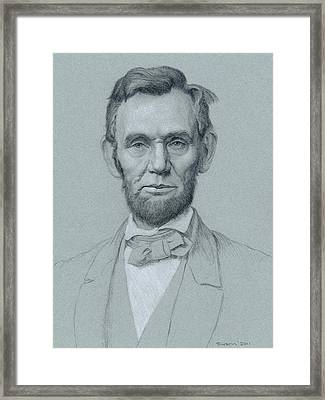 Abraham Lincoln Framed Print by Swann Smith