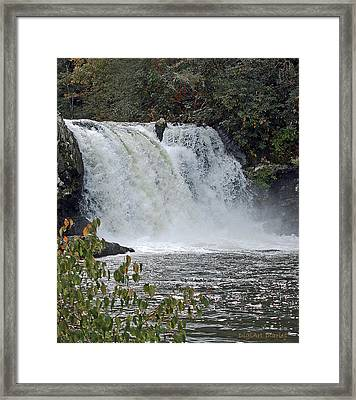 Abrams Falls Cades Cove Tn Framed Print by DigiArt Diaries by Vicky B Fuller