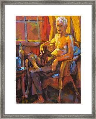 Absinthe Drinker Framed Print by Joan  Jones