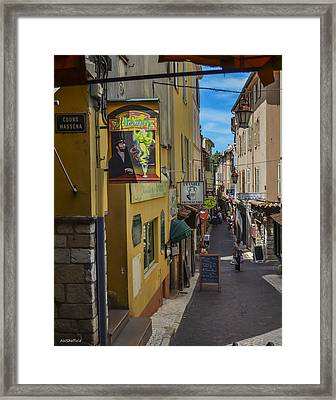 Absinthe In Antibes Framed Print by Allen Sheffield