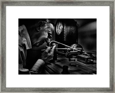 Absolute Precision To The Exact Time Framed Print by Antonio Grambone