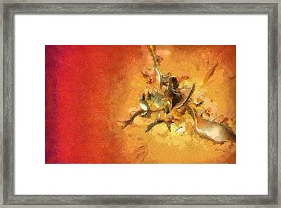 Abstract - Cities Framed Print by Russ Harris