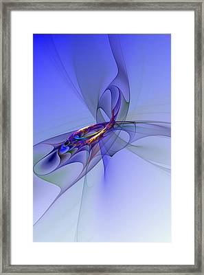 Abstract 110210 Framed Print by David Lane