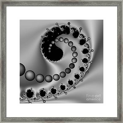 Abstract 117 Bw Framed Print by Rolf Bertram