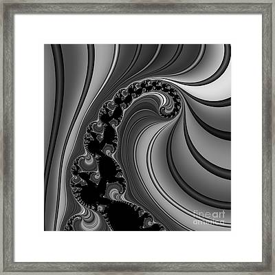 Abstract 121 Bw Framed Print by Rolf Bertram