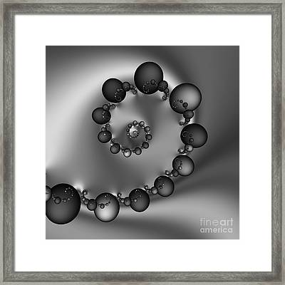 Abstract 157 Bw Framed Print by Rolf Bertram