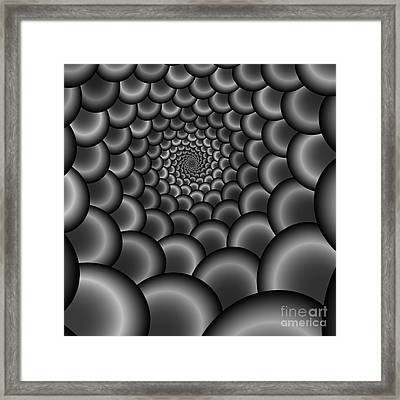 Abstract 221 Bw Framed Print by Rolf Bertram