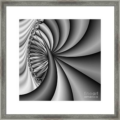 Abstract 531 Bw Framed Print by Rolf Bertram