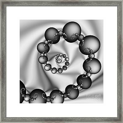 Abstract 537 Bw Framed Print by Rolf Bertram